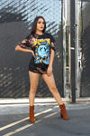 Johnny Cash The Man In Black Distressed Oversized T-Shirt/Dress