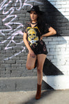 Iron Maiden Tie Dye Distressed Oversize T-Shirt/Dress