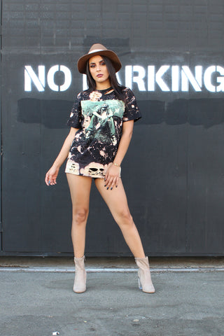 Led Zeppelin Bleached Oversize T Shirt/Dress