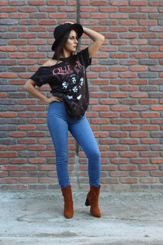 The Rolling Stones Distressed Vintage Crop Top