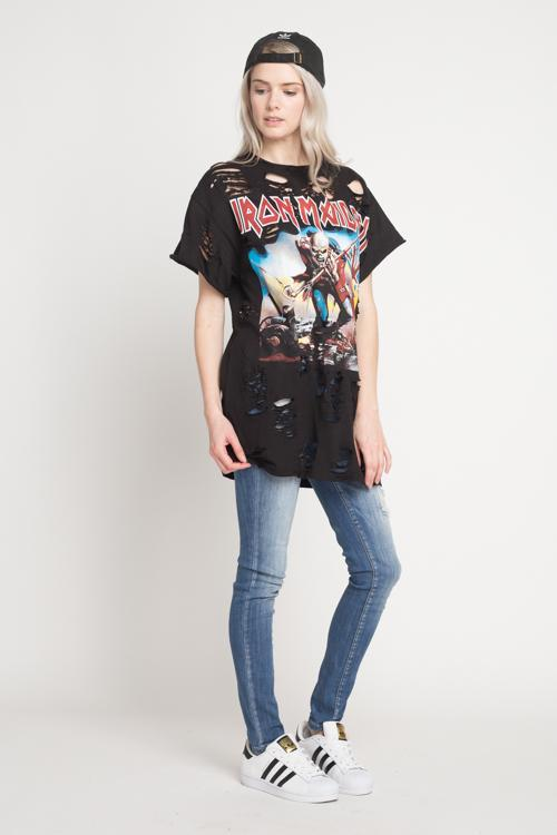 Iron Maiden Trooper Over Sized Distressed T-shirt/Dress