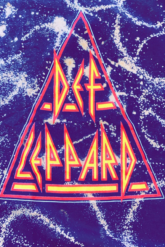 Acid Wash Crop Top Def Leppard Tee