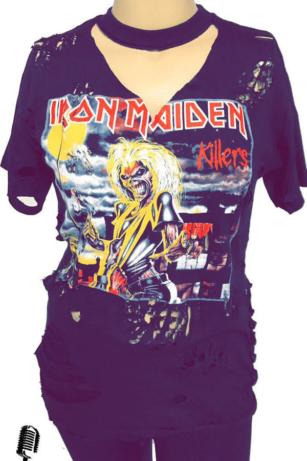 Iron Maiden Killers Oversize Distressed Tshirt/Dress