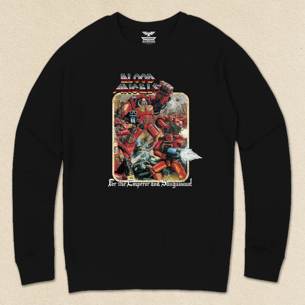 Blood Angels Throwback French Terry Raglan Crewneck