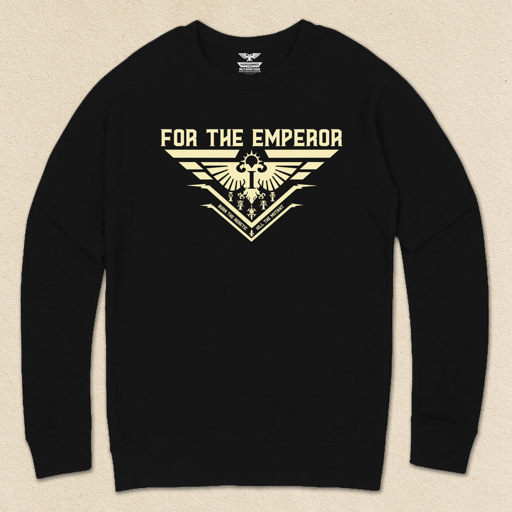 For The Emperor French Terry Raglan Crewneck