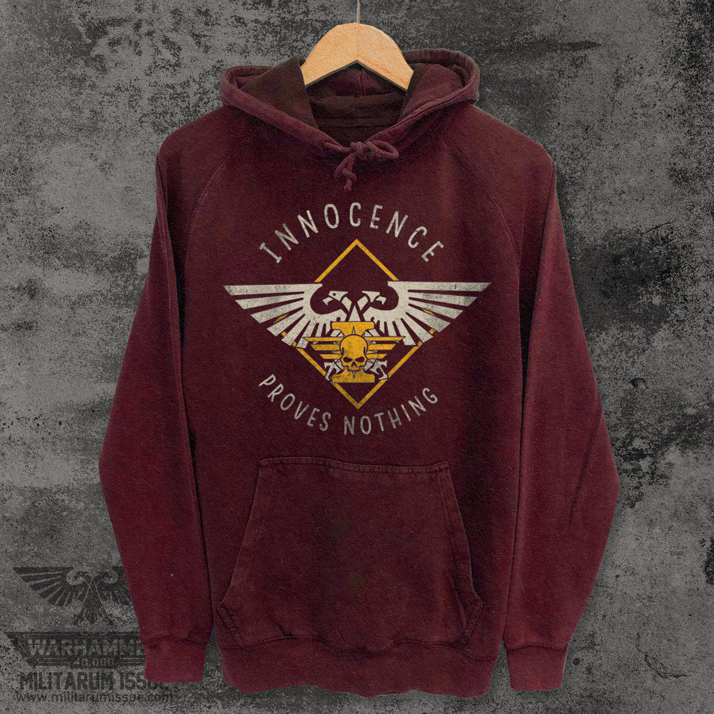 Innocence Proves Nothing Mineral Washed Hoodie Brick