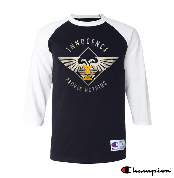 Innocence Proves Nothing Champion Raglan