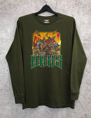 Orks Throwback Long Sleeve Crewneck Tee