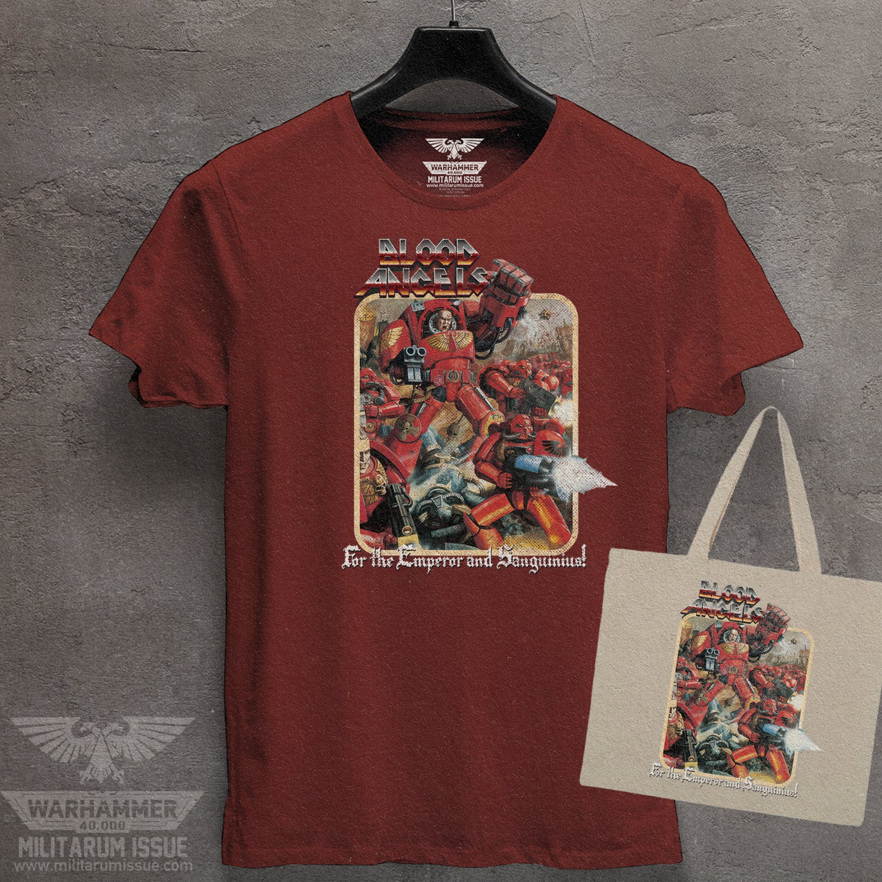 Blood Angels Throwback Tee & Tote Combo
