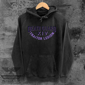 Death Guard Traitor Legion Mineral Washed Pullover Black w/Purple