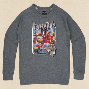 Hive Mind French Terry Raglan Crewneck Heather Grey