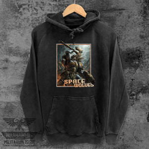 Space Wolves Mineral Washed Pullover