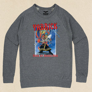 Yarrick French Terry Raglan Crewneck Heather Grey