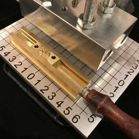 Heating Arbor Press with Sliding Alphabet Holder
