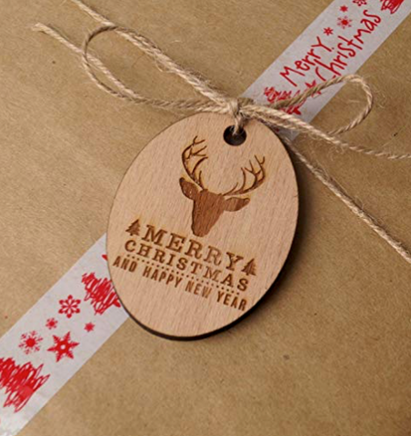 Heat Pressed Wooden Tag by Heating Arbor Press