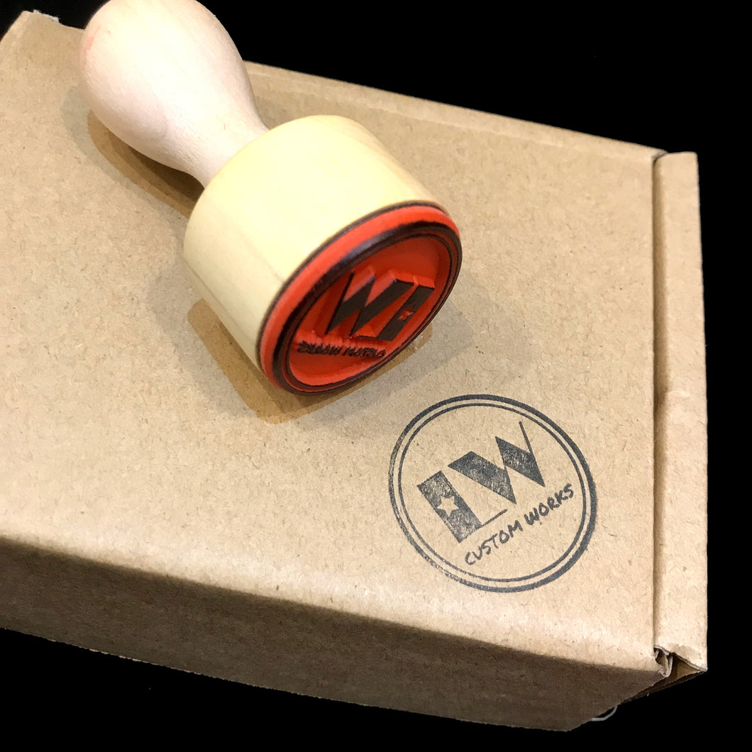 Rubber Ink Stamp with wooden handle