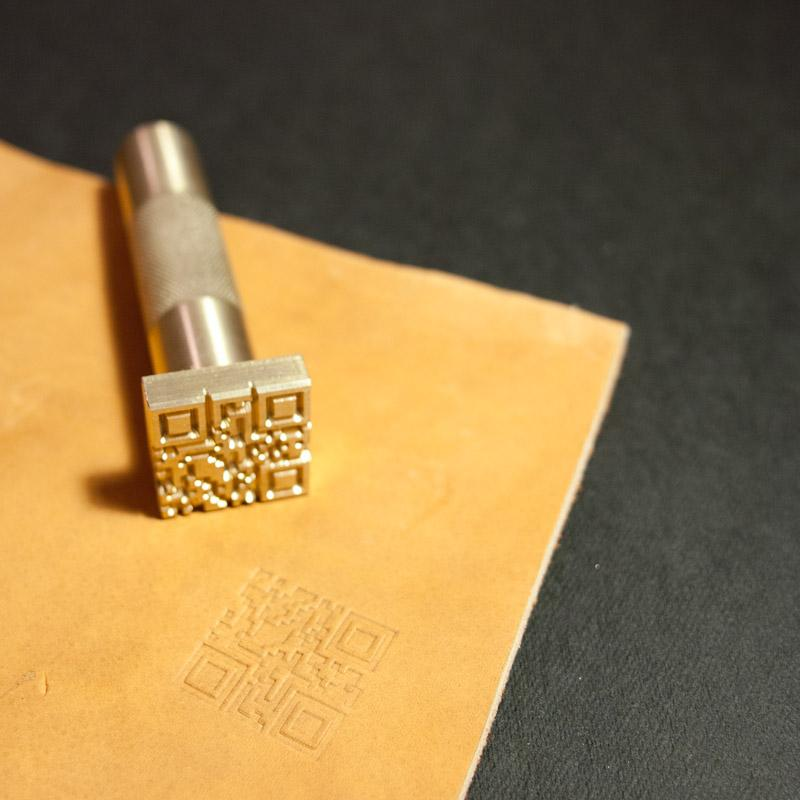 Custom Leather Stamp with Hammering Handle - GIFT CARD