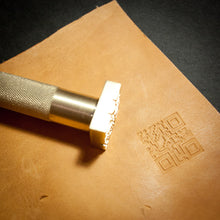 Custom Leather Stamp with Hammering Handle for leather embossing