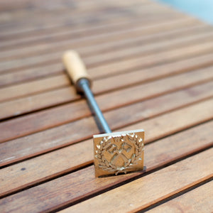 Custom Wood Branding Iron with Long Handle