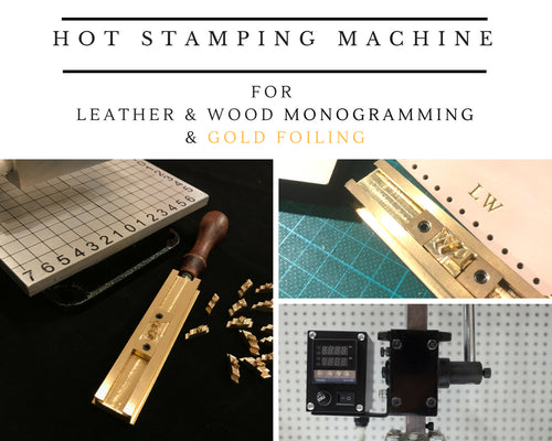 Heating Arbor Press for Leather Monogramming, Wood Branding & Gold Foiling, with sliding alphabet holder