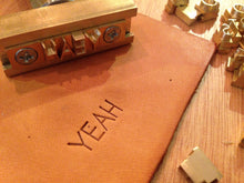 Custom Alphabet Leather Stamping Set for leather monogramming
