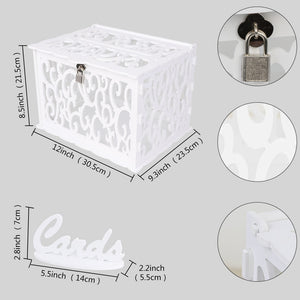 DIY Wedding Money Box (White)