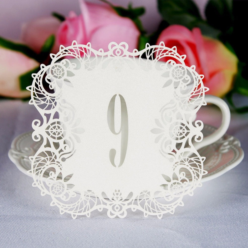 Paper Wedding Table Numbers