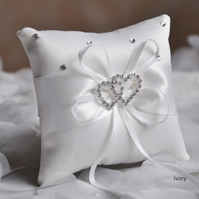 Double Heart Ring Pillow (Multi-Color)