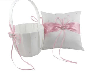 Ring Pillow & Flower Girl Basket (Multiple Colours)
