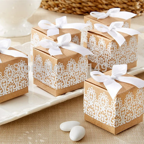 Rustic Candy Boxes 50pcs