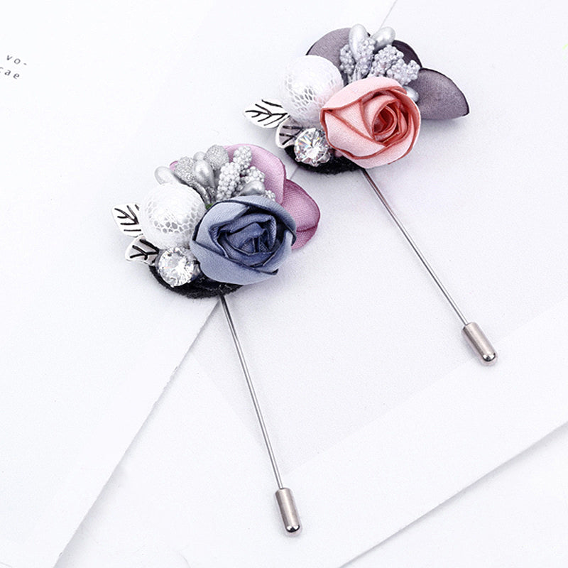 Brooch Style Boutonniere (2-Colors)
