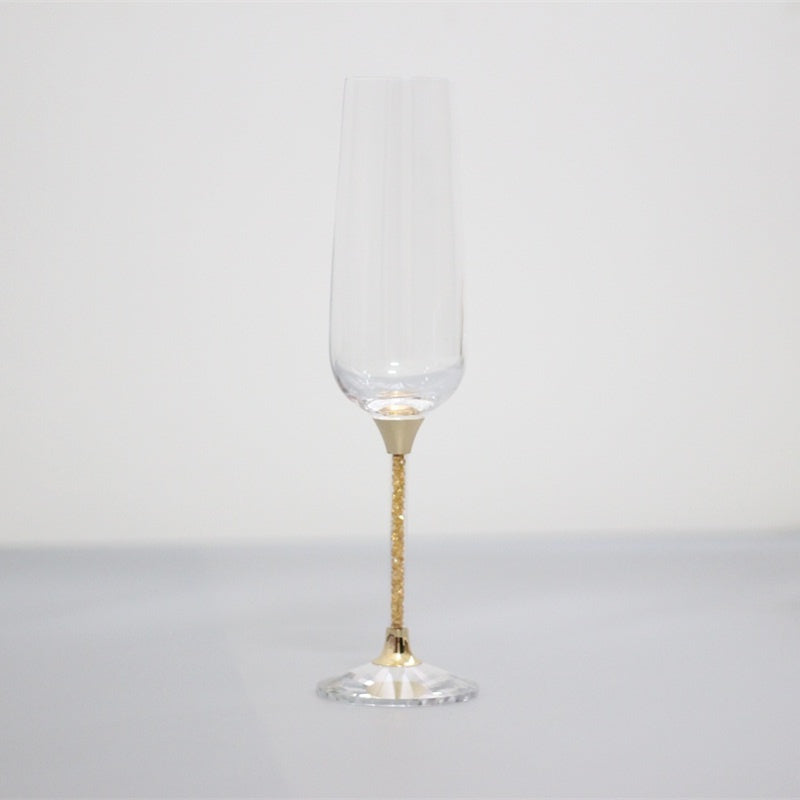 Gold Crystal Champagne Glasses