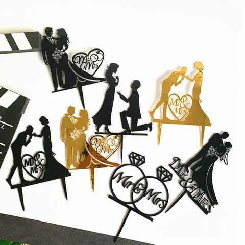 Wedding Cake Topper (Multiple Styles)