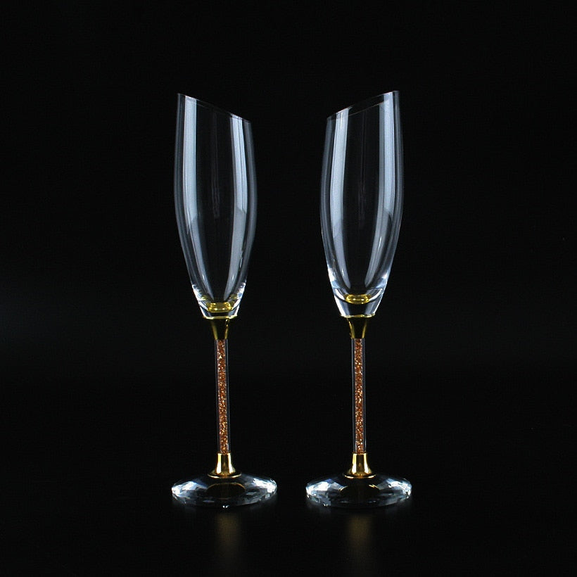 Luxury Slanting Champagne Glasses (Multi-Color)