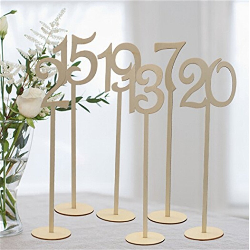 Wooden Wedding Table Numbers