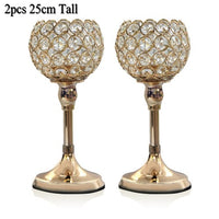 Gold Candle Holders (2pcs/order)