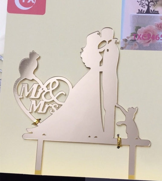 Mr & Mrs Wedding Cake Toppers