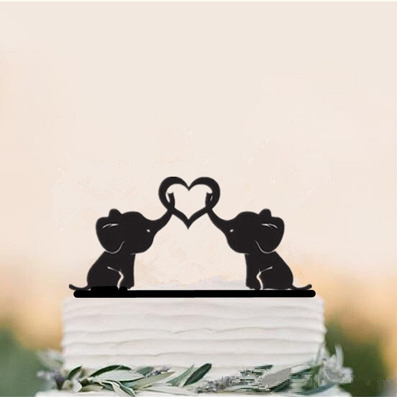 Cute Elephant Cake Topper