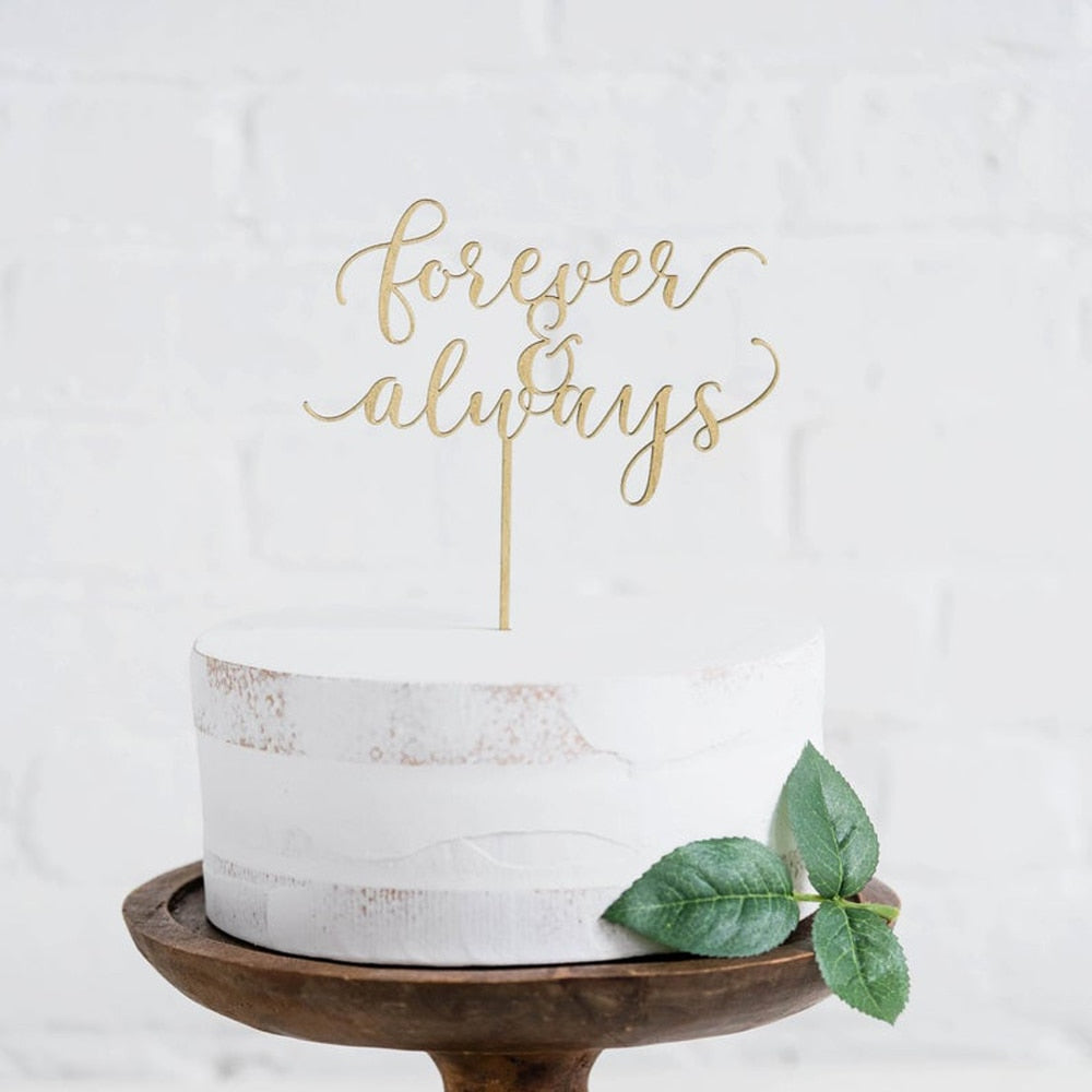 Forever & Always Wedding Cake Topper