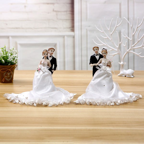 Dancing Bride & Groom Cake Topper