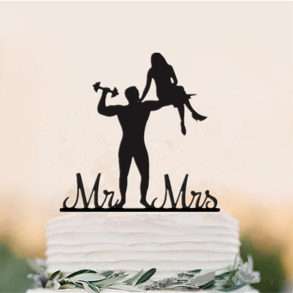 Fitness Wedding Cake Toppers