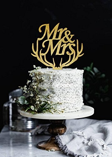 Mr. & Mrs. Cake Topper
