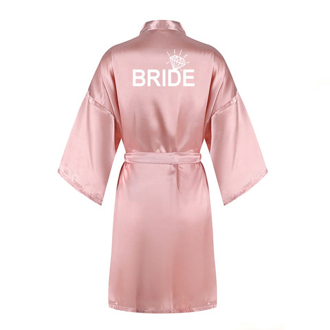 Silk Satin Bridal Robe