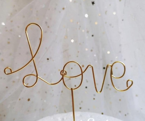 Iron Love Cake Wedding Cake Topper