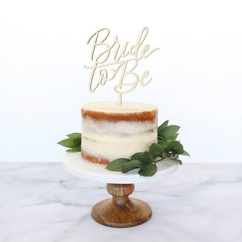 Bride to Be Wedding Cake Topper