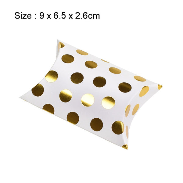 Gold Dot Pattern Candy Box 10pcs