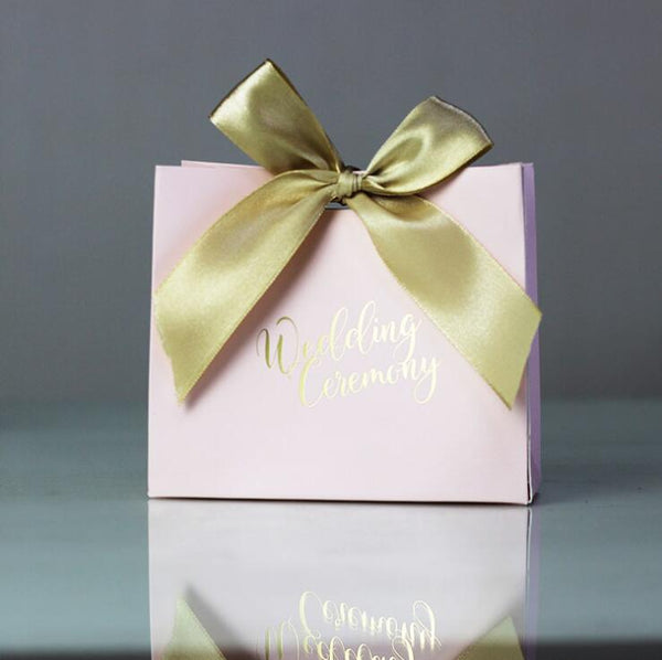 Thank You Printed Pink Candy Box for Weddings