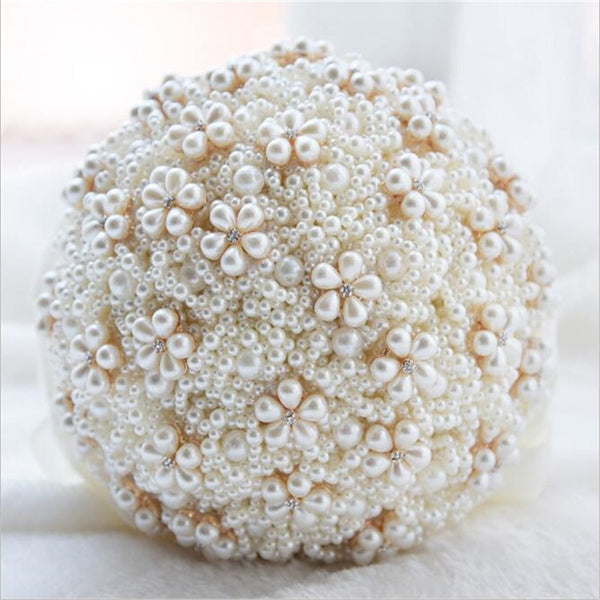 Pearl Wedding Bouquet (5-Colors)