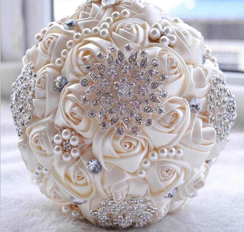 Ivory White Wedding Bouquet (8-Styles)