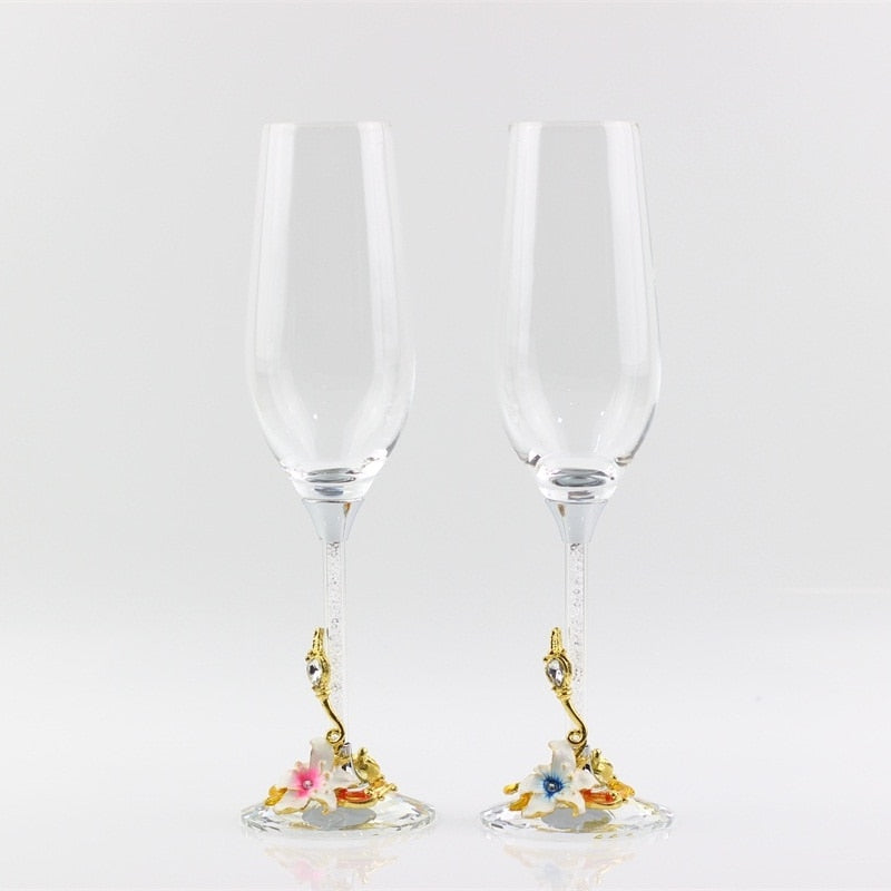 Luxury Crystal Champagne Glasses
